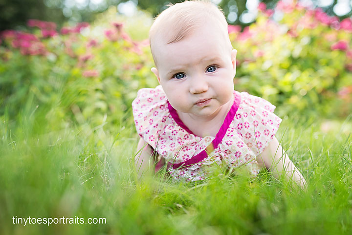 baby girl on grass