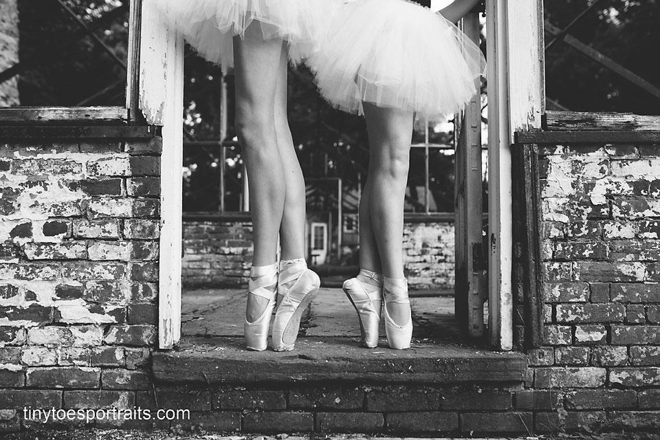 dancers feet black and white