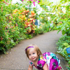baby girl crawling at phipps