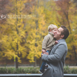 dad and son in the park