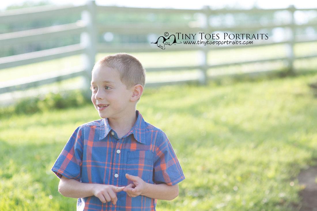 little boy talking