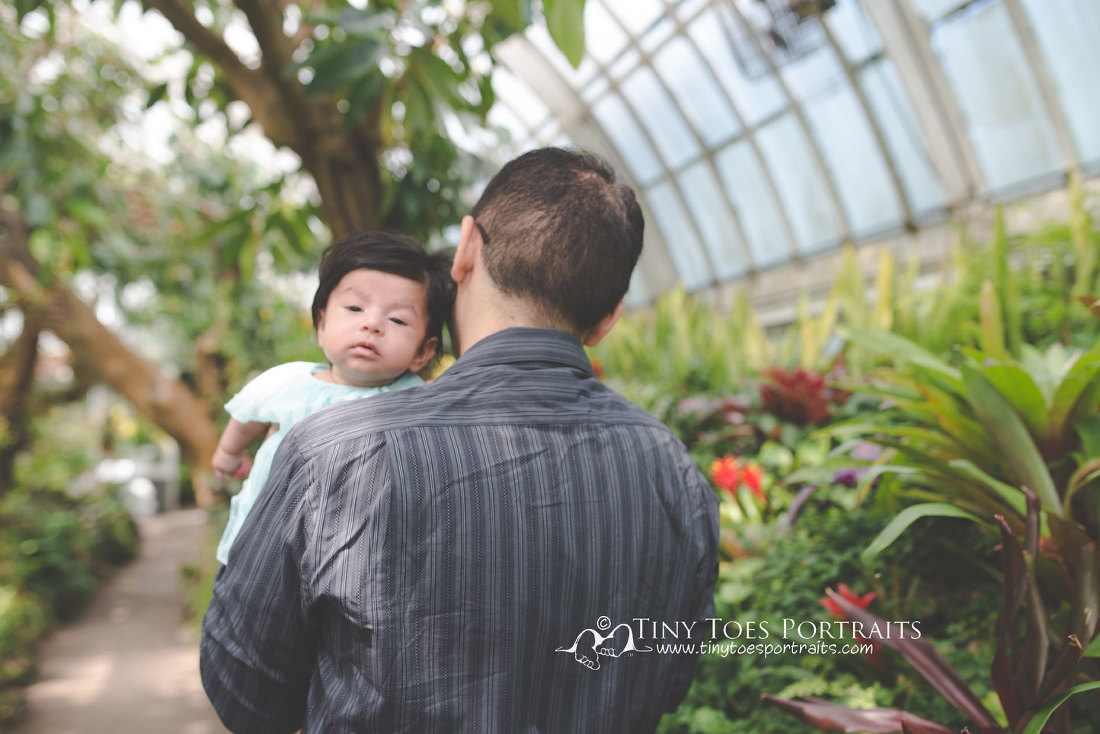 baby girl with her dad at phipps