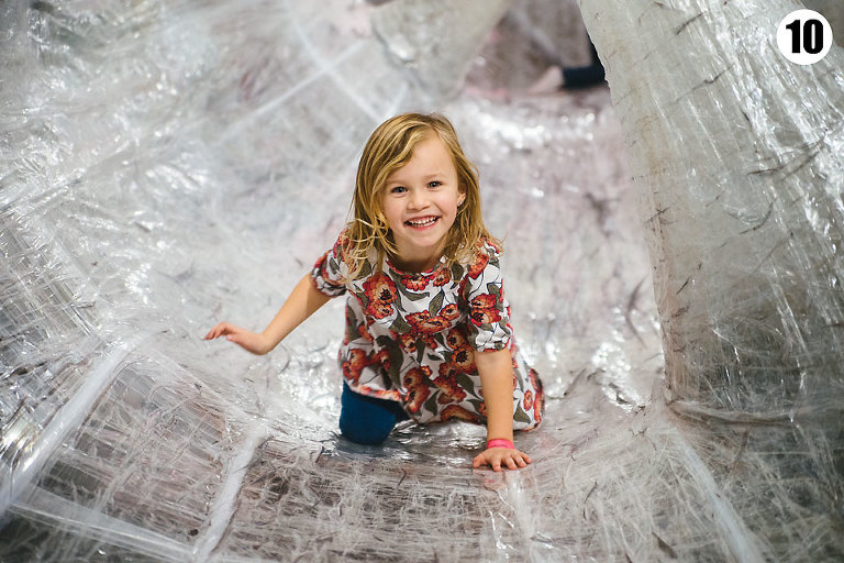 project 365, little girl in tapescape at the children's museum