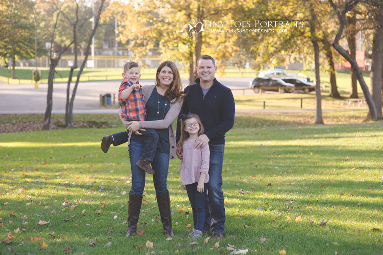 family photos at cranberry park